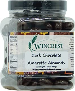 dark chocolate amaretto almonds