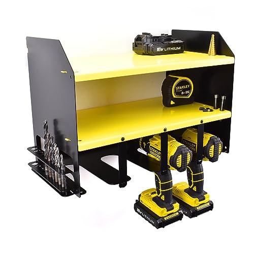 Blue Drill Driver Battery Tool Rack Shelving Storage Workshop Organiser Bag Case