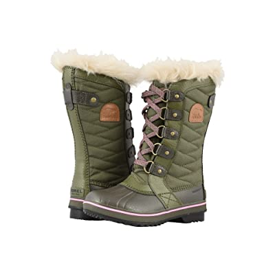 SOREL Kids Tofino II (Little Kid/Big Kid) (Hiker Green/Alpine Tundra) Girls Shoes