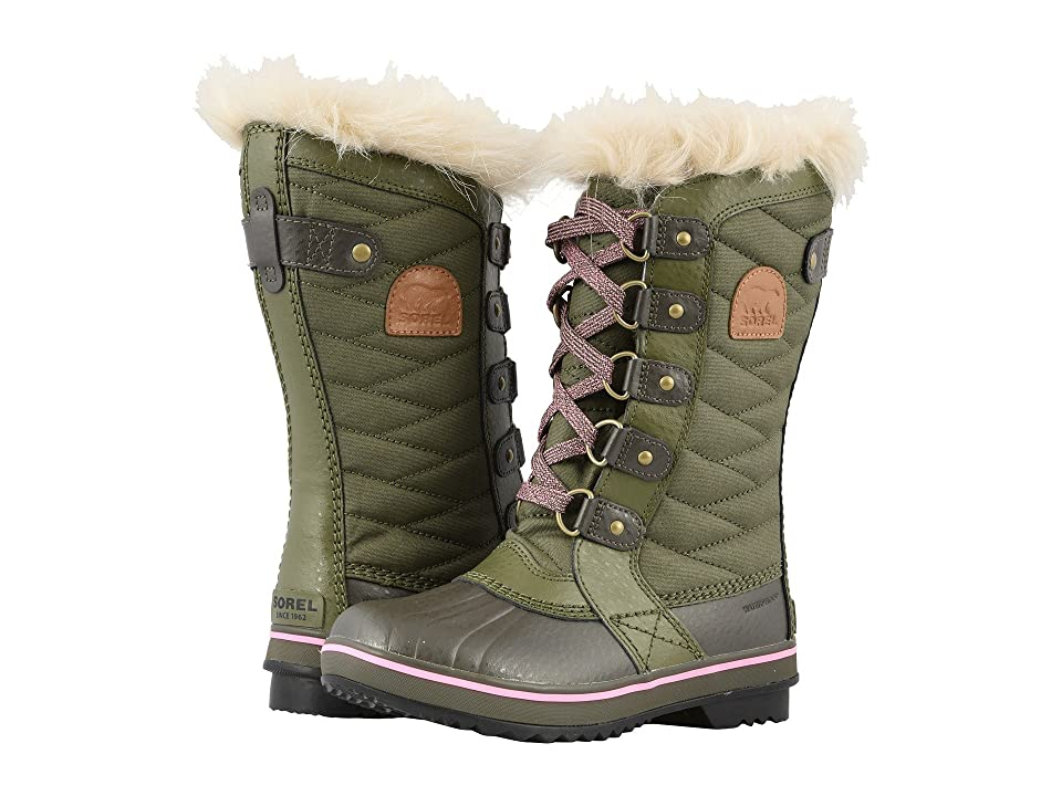 SOREL Kids Tofino II (Little Kid/Big Kid) (Hiker Green/Alpine Tundra) Girls Shoes