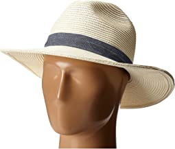 UBM4457 Panama Fedora Hat with Chambray Band