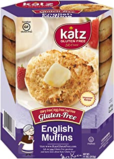 Katz Gluten Free English Muffins | Dairy, Nut and Gluten Free | Kosher (3 Packs of 4 Muffins, 11 Ounce Each)