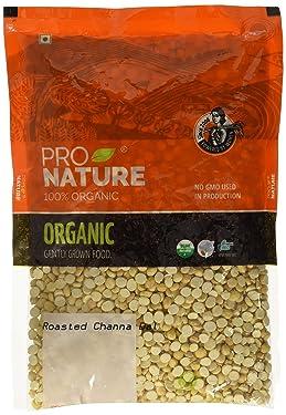Pro Nature 100% Organic Roasted Channa Dal, 500g