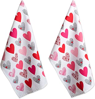 DII 100% Hearts Collage Dish Towels, Ultra-Absorbant, Machine Washable Perfect, Dishtowel Set