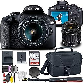 Canon EOS 2000D / Rebel T7 DSLR Camera with 18-55mm Lens + Creative Filter Set, EOS Camera Bag + Sandisk Ultra 64GB Card +...