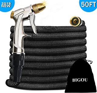 BIGOU 50FT Expandable Water Hose, 2019 Leakproof Garden Hose with 3/4