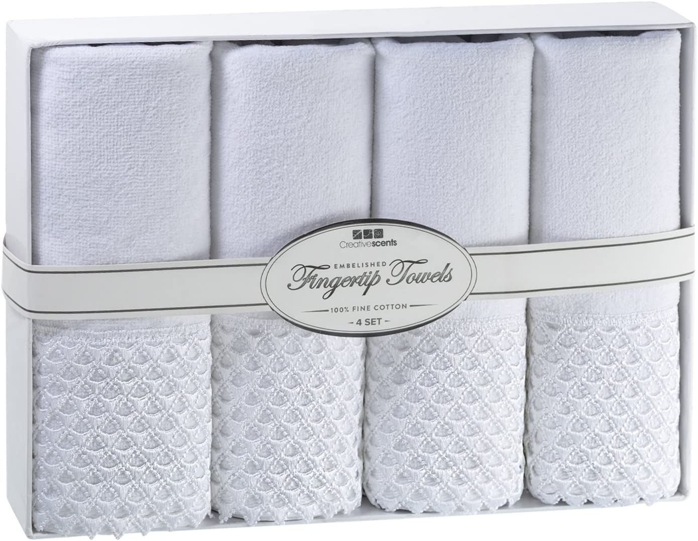 Creative Scents Cotton Velour cheap Fingertip Piece Set 4 11 In stock Towels