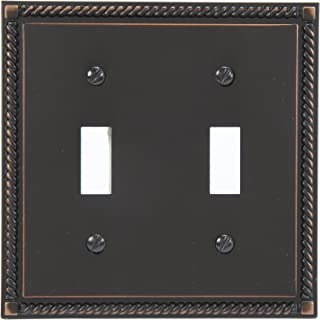 Amerelle Georgian Double Toggle Cast Metal Wallplate in Aged Bronze
