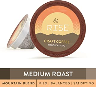 GreaterGoods Kcup Coffee Medium Roast (72 Count) For Keurig K-Cup Brewers, Mountain Blend Eco Safe Coffee Pods (Medium Roast Mountain Blend)