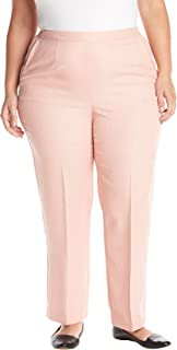 Alfred Dunner womens Plus-size Proportioned Medium Solid Pant Pants