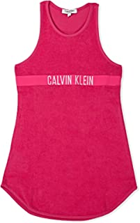 Calvin Klein Straight Dress for Women - Pink, Size 4-5 Years