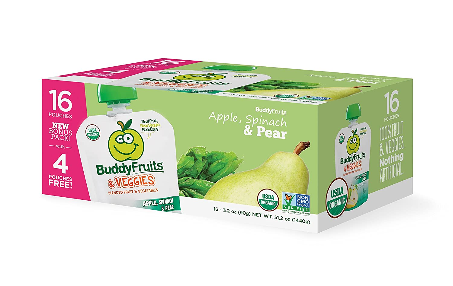 Buddy Fruits Blended Fruit and Squeeze 5 ☆ very popular Omaha Mall Ap Snack Veggies Pouches