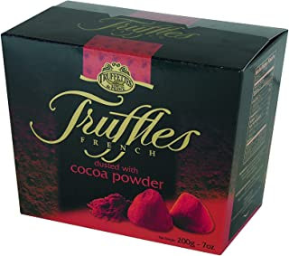Chocmod Truffettes de France Natural Truffles Dusted with Cocoa Powder, One 200-Gram 7 ounce Box