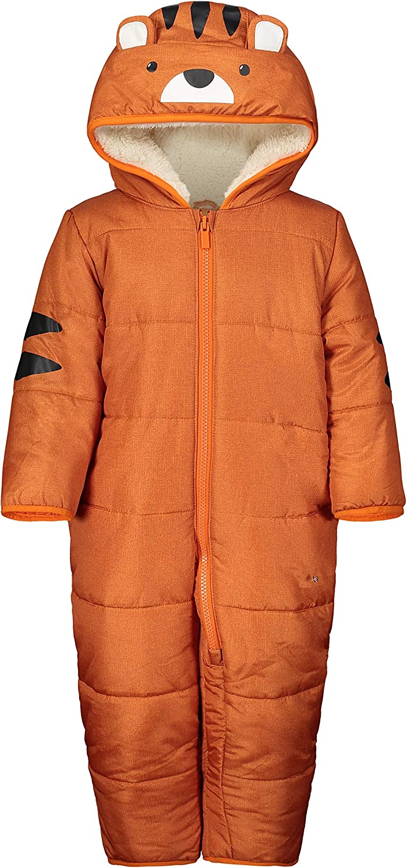 Carter's baby boys Heavyweight Poly Pram Snow Pants, Tiger Hood Orange, 6 9MO US