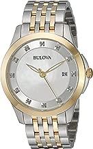 Bulova Women's 36mm Classic Diamond Two-Tone Stainless Steel Bracelet Watch (Certified Refurbished)