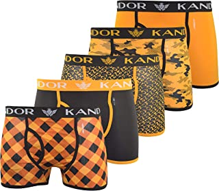 Kandor Mens Boxers Shorts (5 Pack) Colourful Multipacked Underwear Gift Set, Mens Boxers Trunk