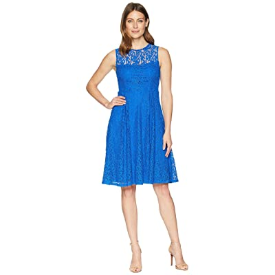 Calvin Klein Lace Fit Flare Dress CD8L15QG (Capri) Women