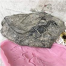 Moule en silicone Béton à domicile Mur de mur de décoration suspendue moule d'artisanat 3D époxy résine dinosaure fosser m...