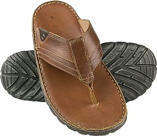 Zerimar Leather Flip Flops for Men | Urban Beach Flip Flops Mens | Mens Flip-Flops | Leather Flip Flops