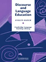Discourse and Language Education (Cambridge Language Teaching Library)