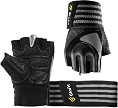 Professional Padded Weight Lifting Gloves Female & Male, Gym Workout Gloves for Men & Women with Wrist Support, Full Palm ...