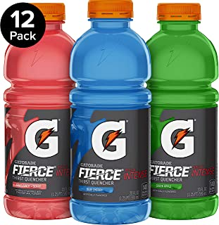 Gatorade Fierce Thirst Quencher, Variety Pack, 20 Ounce Bottles (Pack of 12)