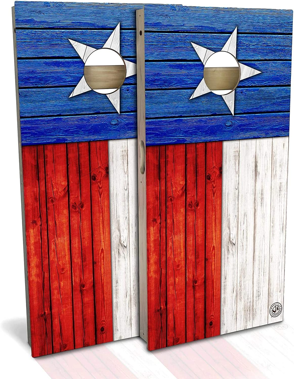 Skip's Garage Texas Flag Cornhole Board Set a Size Max 74% OFF - Sale special price Your Choose