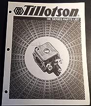 TILLOTSON CARBURETORS HK SERIES PARTS MANUAL SNOWMOBILES 15 PAGES (705)