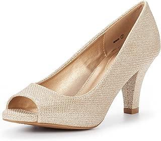 DREAM PAIRS Women's Susan Fashion Peep Toe Heels Dress...