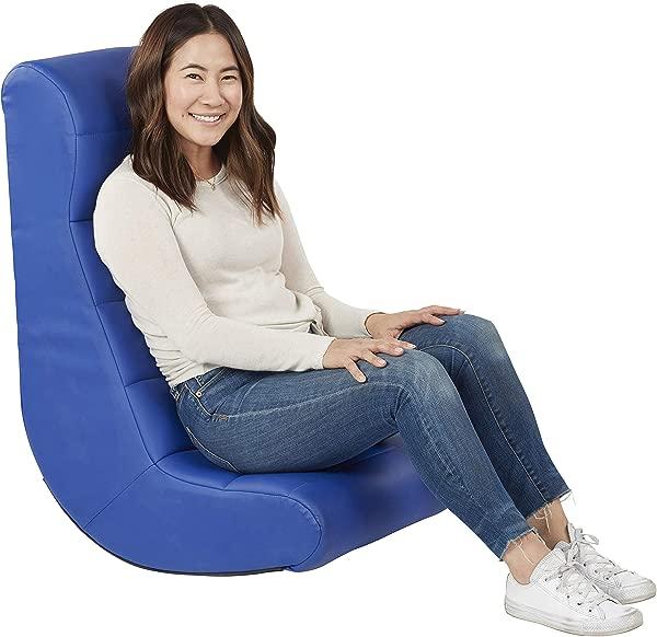 柔软,符合人体工程学的水平,柔软的视频摇杆,非常适合阅读,游戏,冥想或儿童,青少年和成人,蓝色的电视。