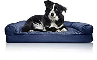 Furhaven Pet Dog Bed   Orthopedic Sofa-Style Traditional Living Room Couch Pet Bed w/ Removable Cover for Dogs & Cats - Available in Multiple Colors & Styles