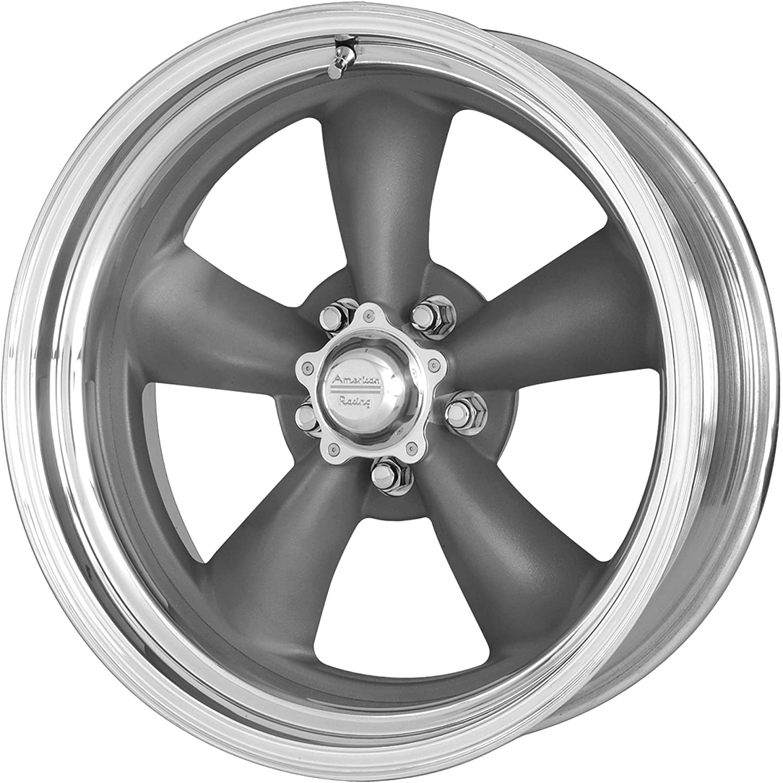 Set of 4 -2mm 14x6 American Racing VN215 Torq Thrust II Gray Wheels 5x120.65