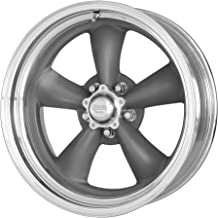 American Racing VN215 Classic Torq Thrust II 1 Pc Mag Gray Wheel with Center Polished Barrel (17x9.5
