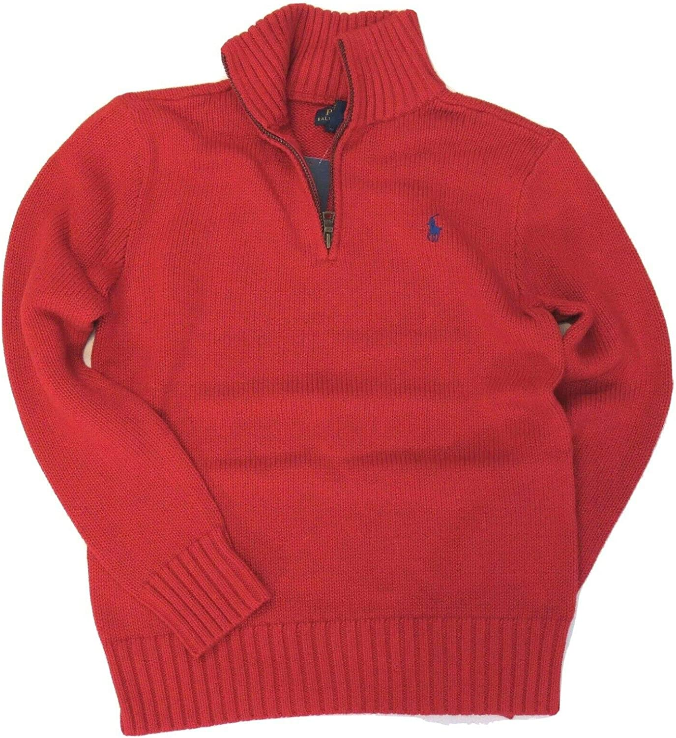 Polo Ralph Lauren Boys Sweater Kids Half Zip Pullover Size 18-20 (X-Large) Red