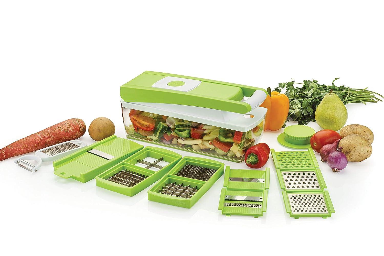 Ganesh Plastic Multipurpose Vegetable and Fruit Chopper Cutter Grater Slicer, Green