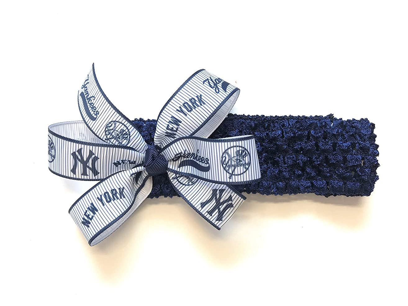 Baby Girls NY Yankees Headband Yankees Baseball MLB Hair Bow for Newborn Baby Girl Hair Accessories