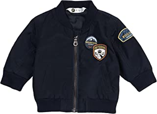 Baby Boy Jacket, Navy Blue, Cute Zip Up Design, Stylish and Tough.