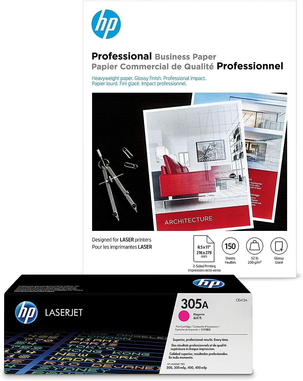HP 305A Magenta Las Seasonal Wrap Introduction Vegas Mall Toner + Brochure x Laser 8.5 Paper 150 11