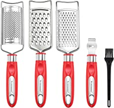 To encounter Cheese Grater Set, Set of 5 Food Grater for Vegetable, Fruit, Chocolate Stainless Steel Multi-purpose Kitchen...