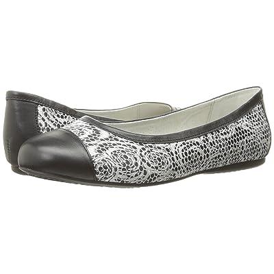 SoftWalk Napa (Black Rose Fabric/Smooth Leather) Women