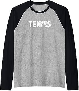 Tennis - Tennis Player Outline - Cool Tennis Raglan Baseball Tee