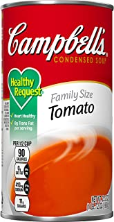 Campbell's CondensedHealthy Request Family Size Tomato Soup, 23.2 oz. Can (Pack of 12)