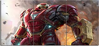 Iron Man Hulkbuster Canvas Posters Home Decor Wall Art Framework 3 Pieces Paintings for Living Room HD Prints Movie Pictures