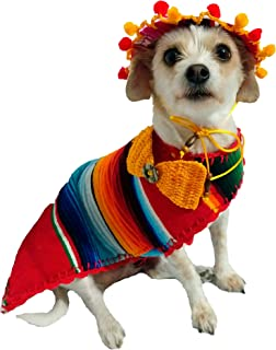 Poncho El Perro - Handmade Dog Poncho - Reversible Poncho from Mexican Serape - Pet Costume – Sweater