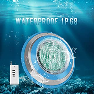 Roleadro Led Pool Light, Waterproof IP68 47W RGB Swimming Pool Lights Multi Color, 12V AC Led Inground Pool Light Control with Remote Controller 6ft