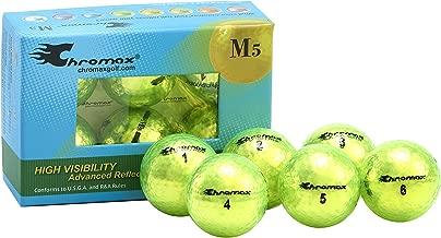 Chromax Metallic M5 Colored Golf Balls (Pack of 6) (Newer Version)