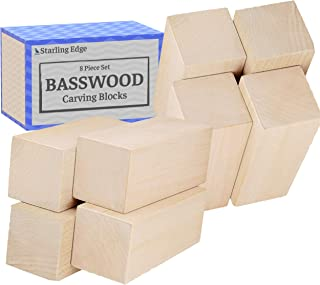 Basswood Blocks for Carving (8 Pieces - 2
