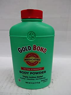 Gold Bond Medicated Body Powder Extra Strength 4 Ounce (Value Pack Of 2)