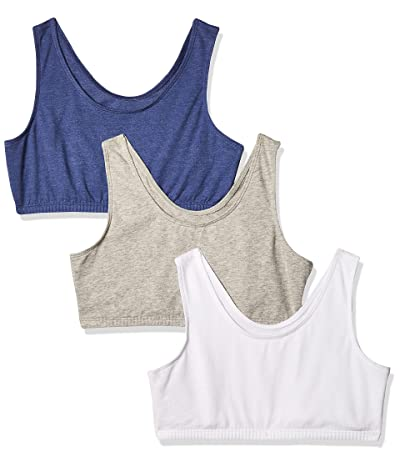 Fruit Of The Loom Cotton Stretch Sports Bra, 3-pack