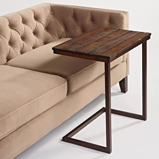 World Market Wood Laptop Table for Couch Recliner and Sofa - Slide Under Couch Table Type That can be Used as Tray Table, tv Table, Serving Tables, Snack Tables, Computer Desk and laptops Tables